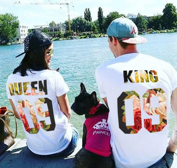 camisetas bordadas para parejas